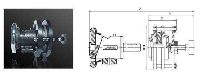 安全卡盘与磁粉制动器组合
